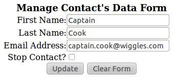 Contact Management Edit Form